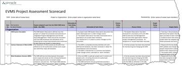 EVMS Project Assessment Scorecard